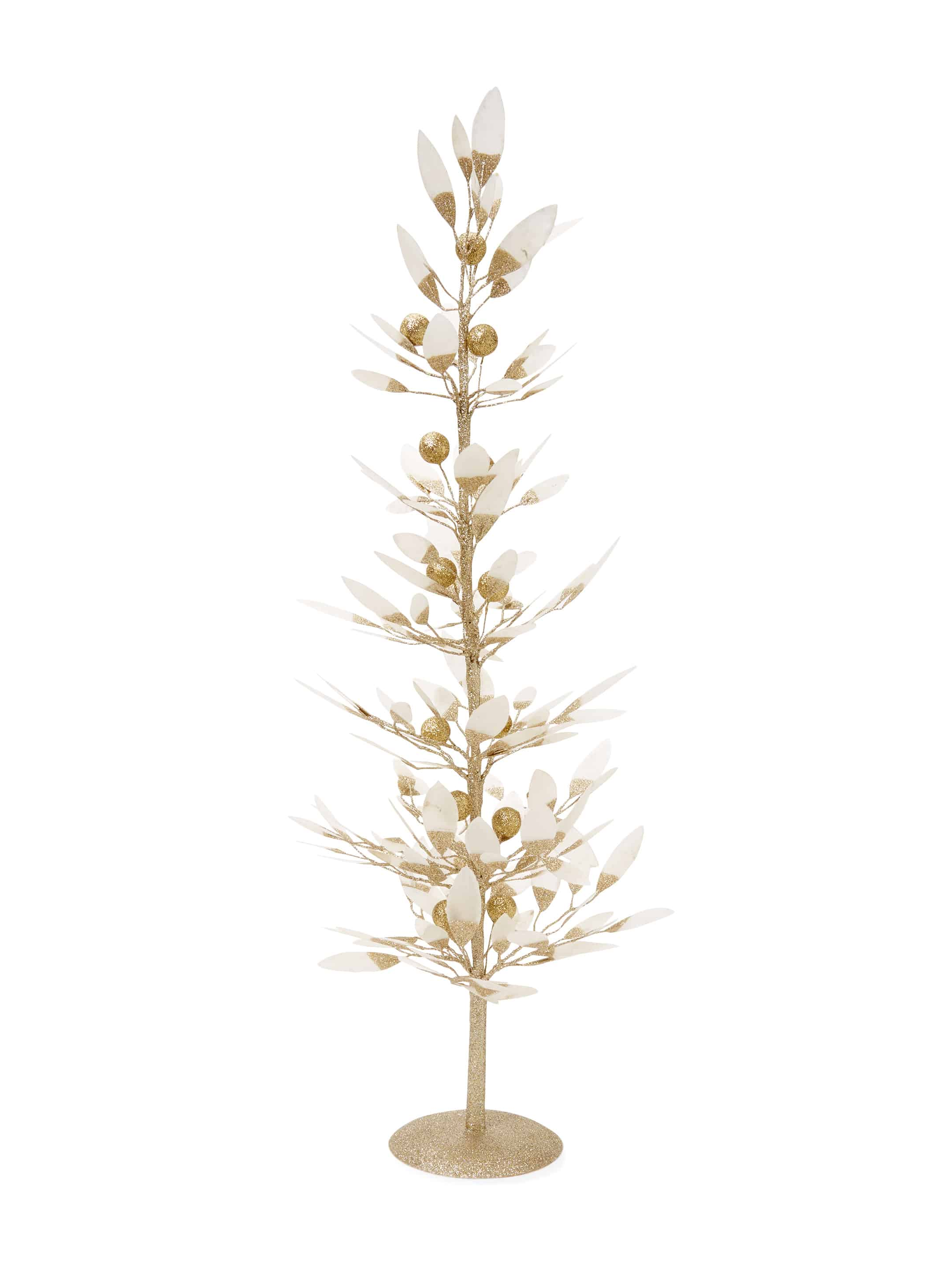 Gold feather modern christmas tree