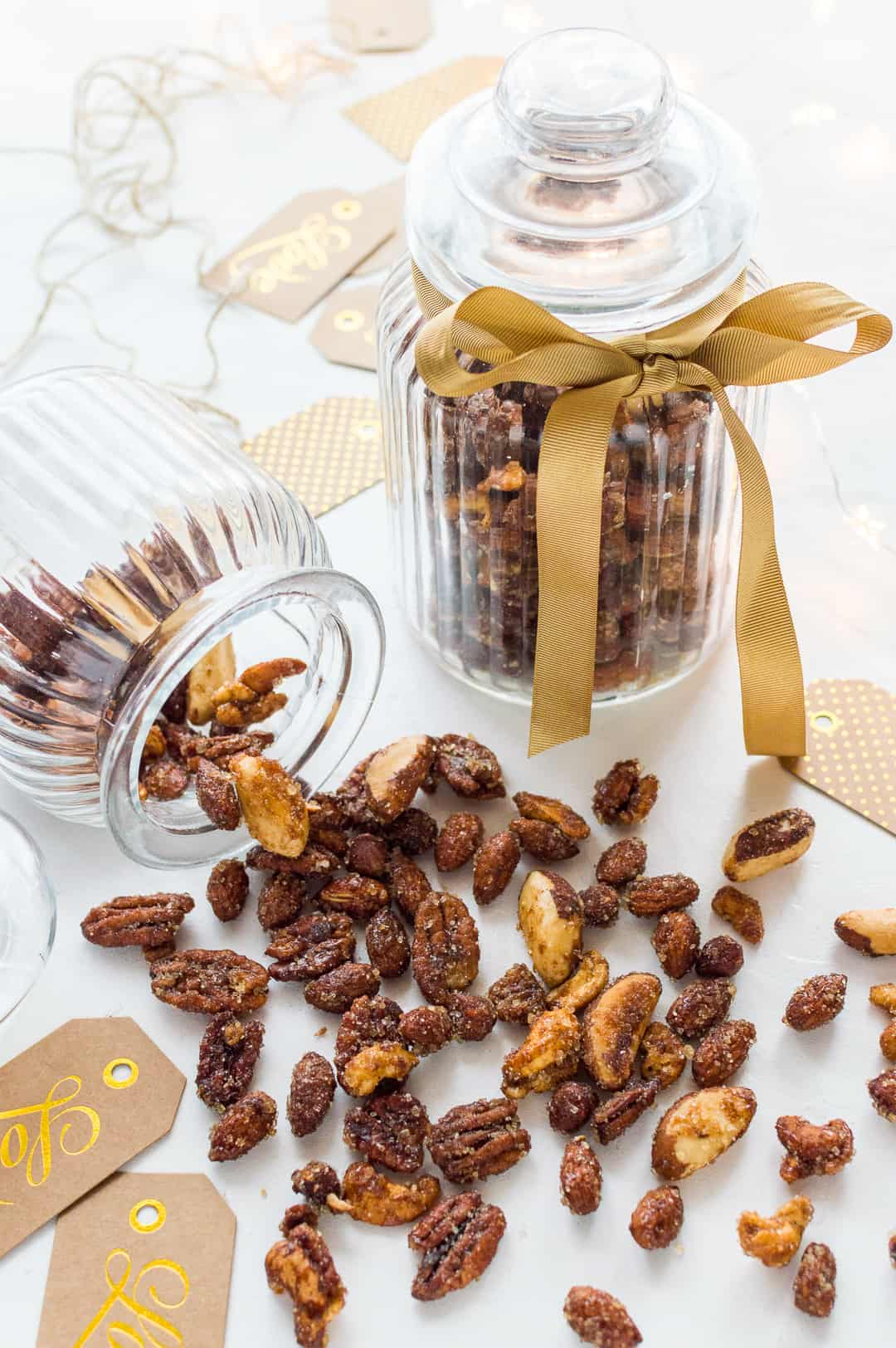Spiced honey roasted nuts - a little sweet, a little spicy, a little salty and a lot addictive!