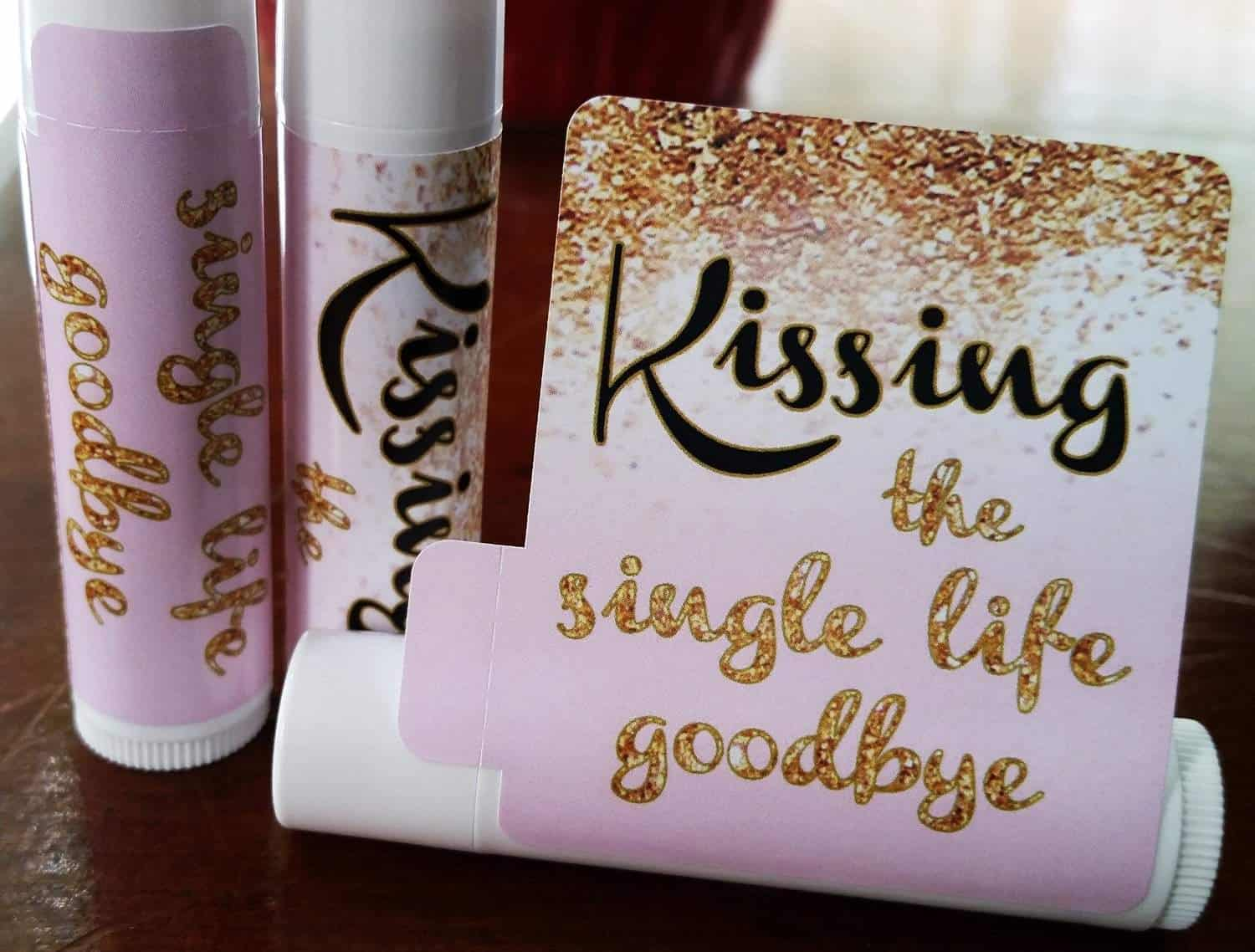 Kissing the single life goodbye bridal shower favors