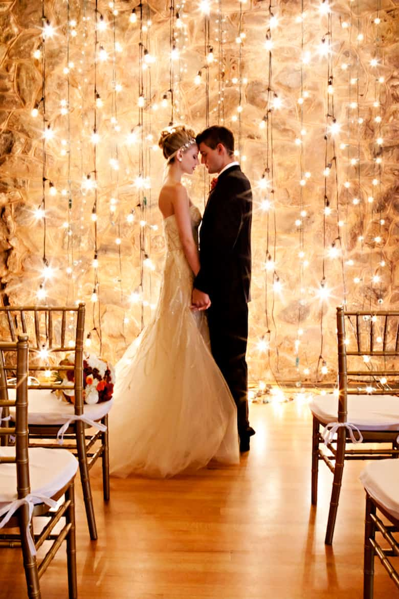 Lighted aisle backdrop