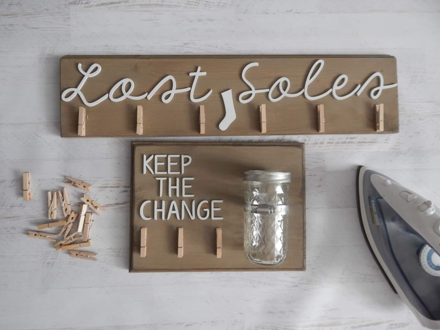 Lost coins and socks for laundry room