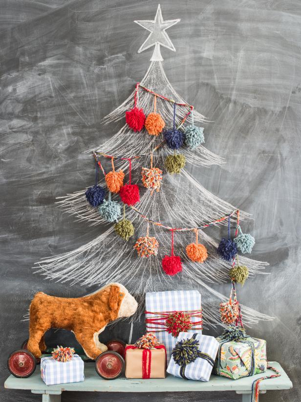 Modern chalkboard christmas tree
