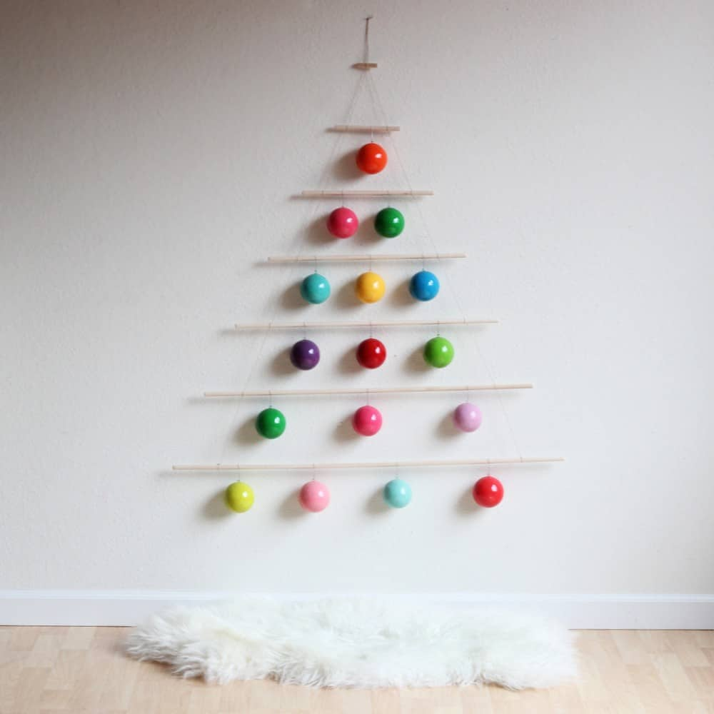 Modern christmas hanging tree