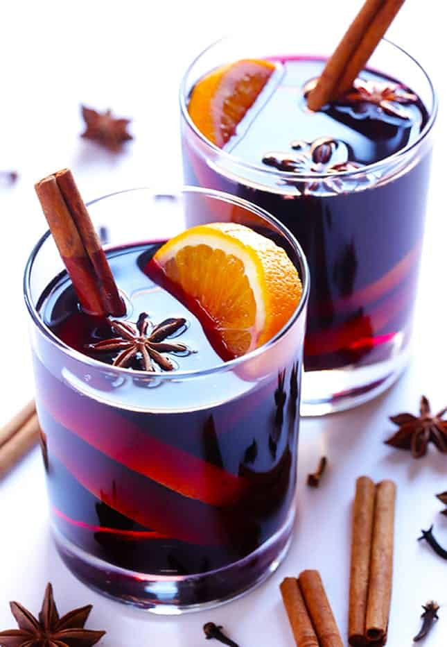 Mulled wine signature cocktail