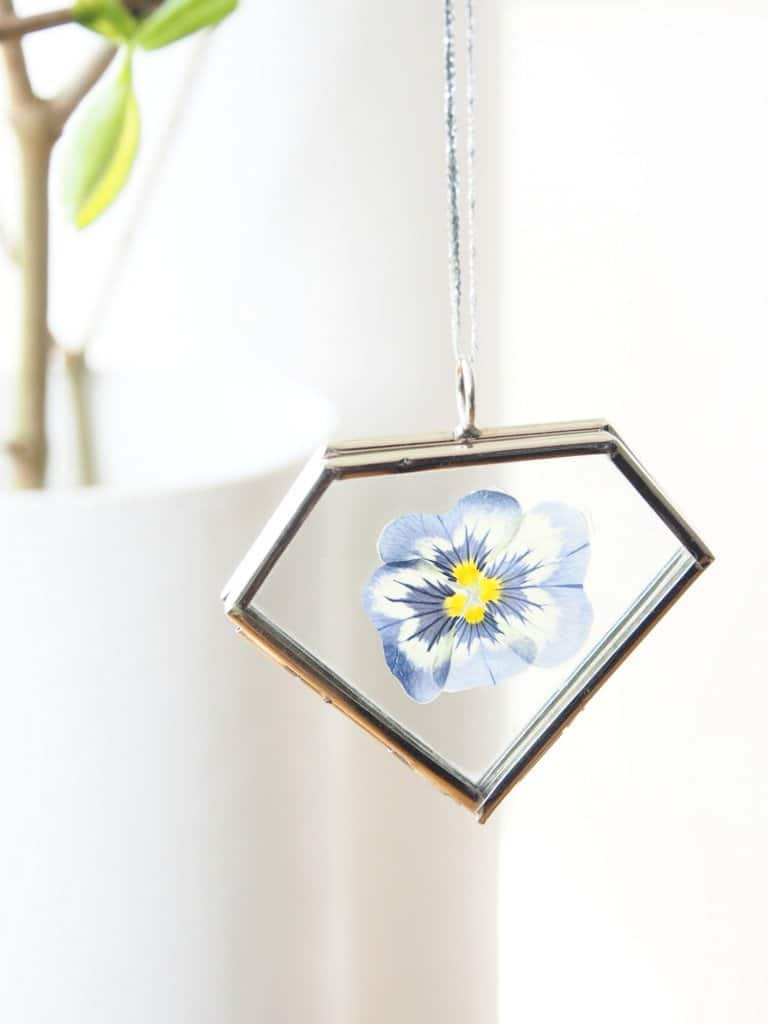 Pressed flower necklace diy
