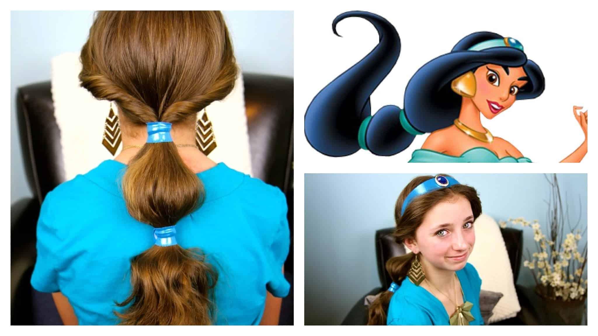 Princess jasmine hair tutorial