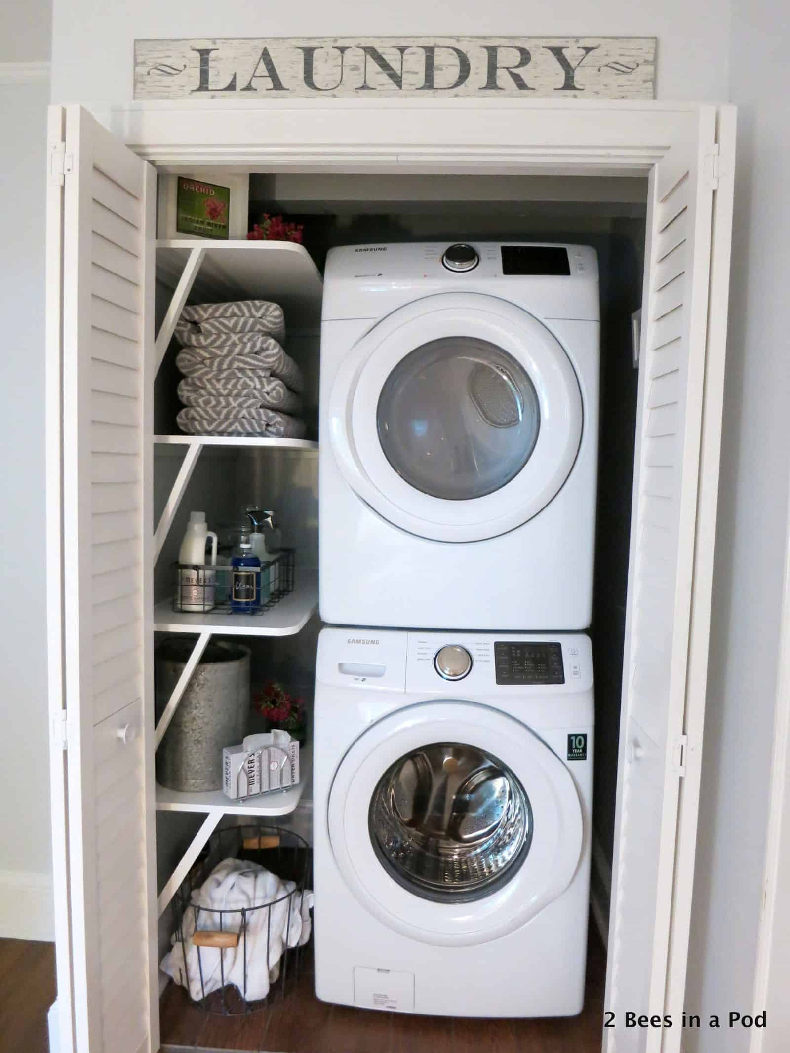 15 diy ways to transform your small laundry room - Accessoire room ...