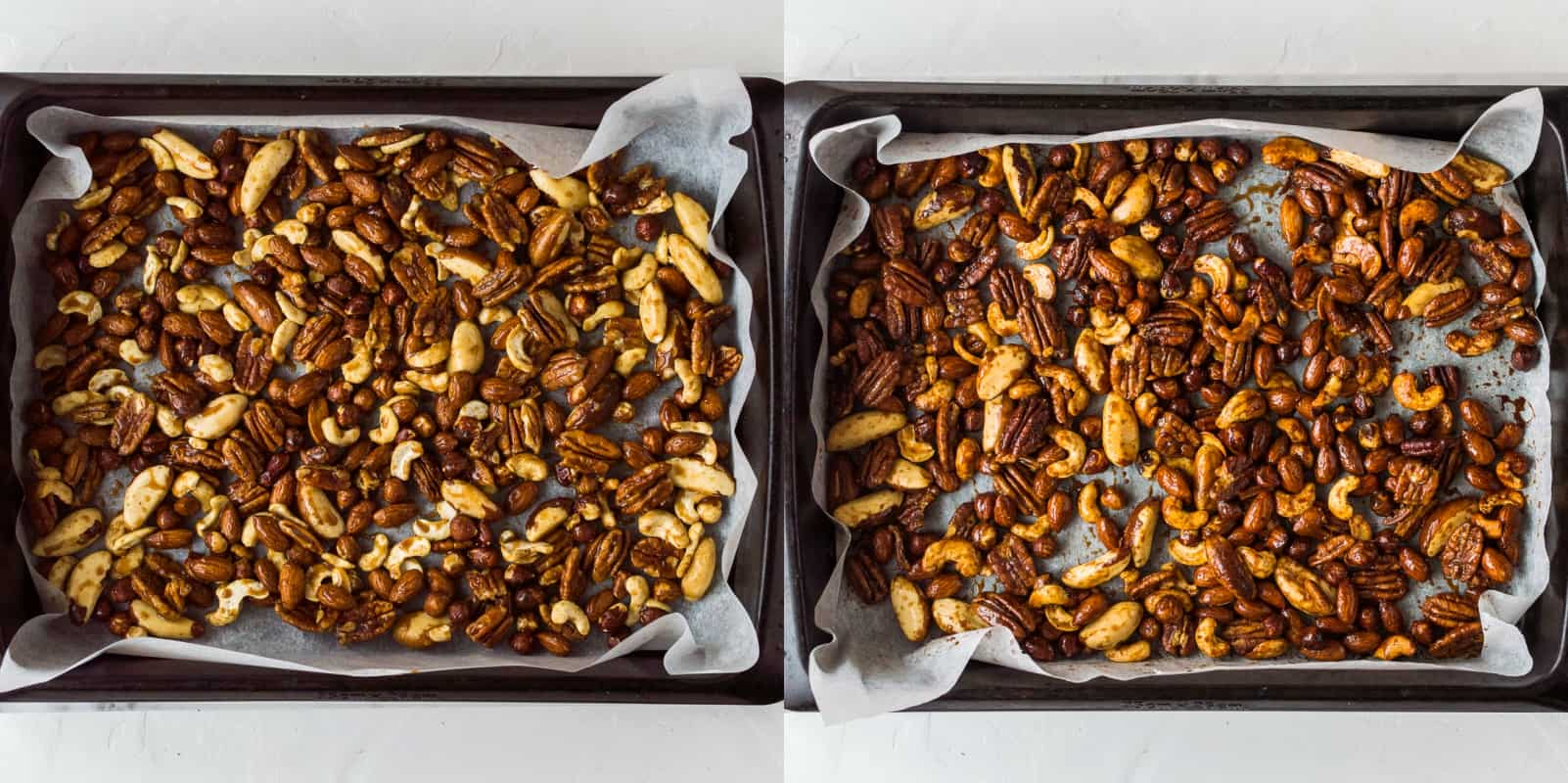 Spiced honey roasted nuts step 2