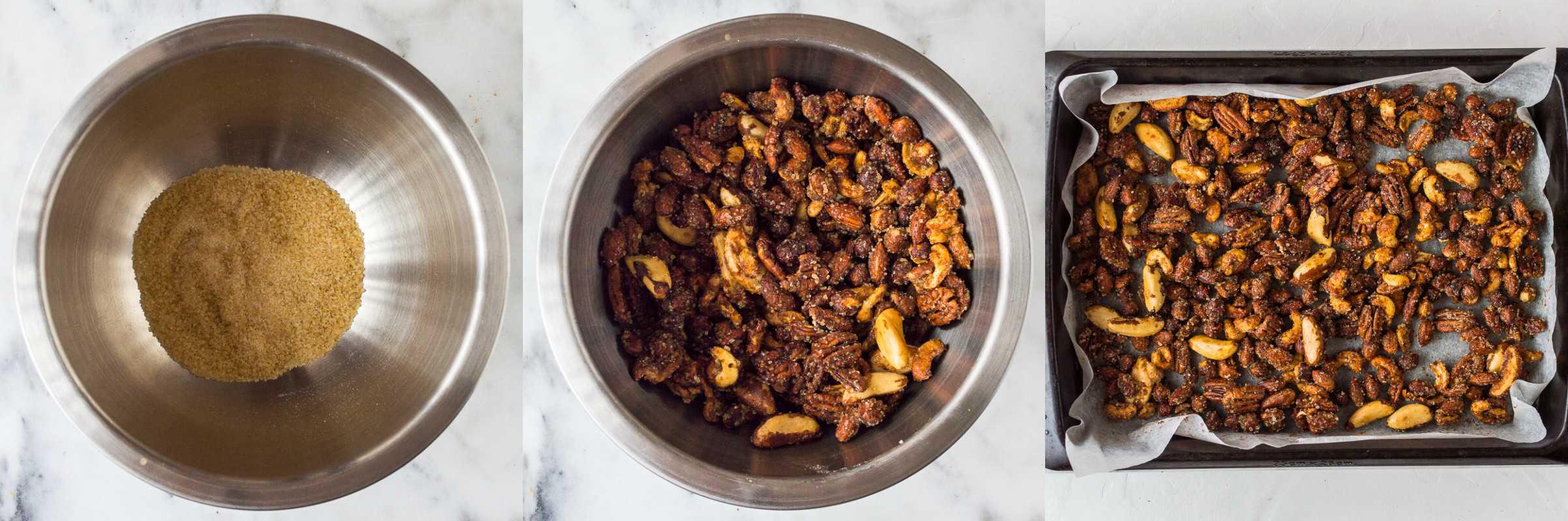 Spiced honey roasted nuts step 3