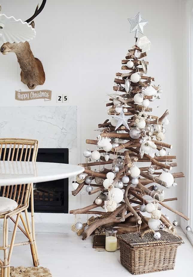 Stacked branch christmas tree