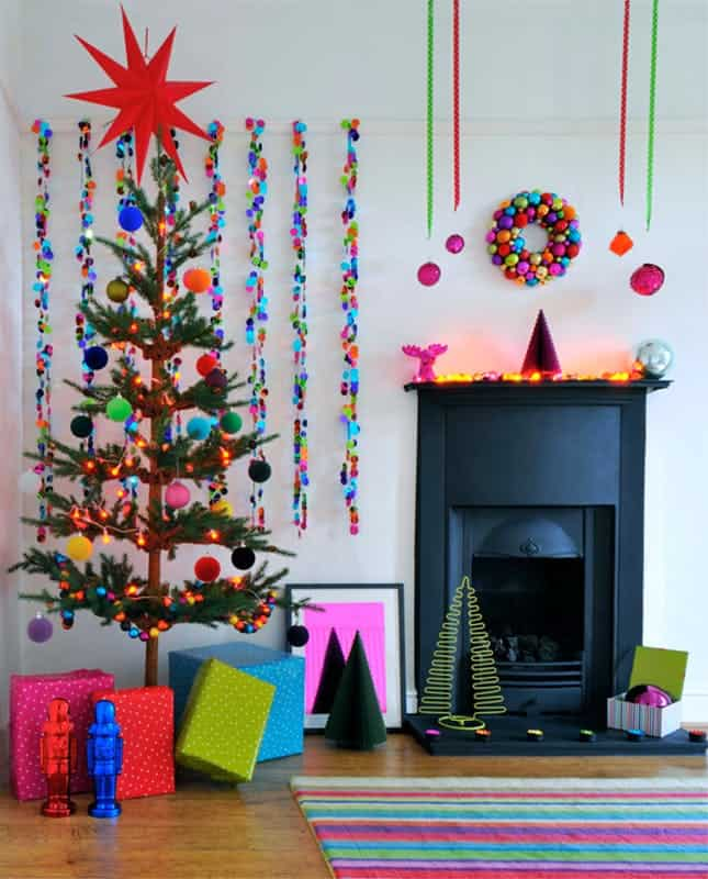 Technicolor christmas tree diy