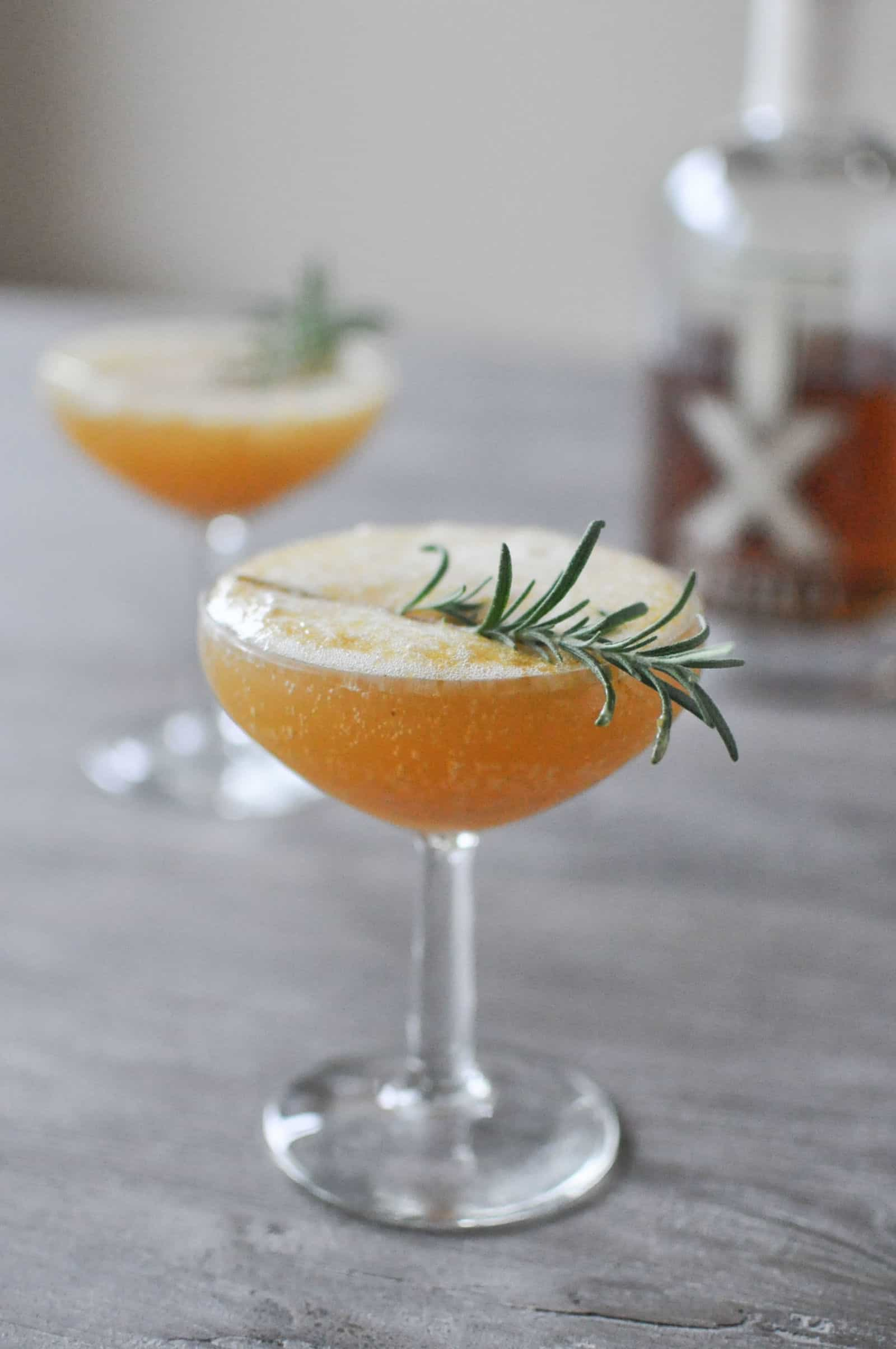 The harvest sparkle cocktail