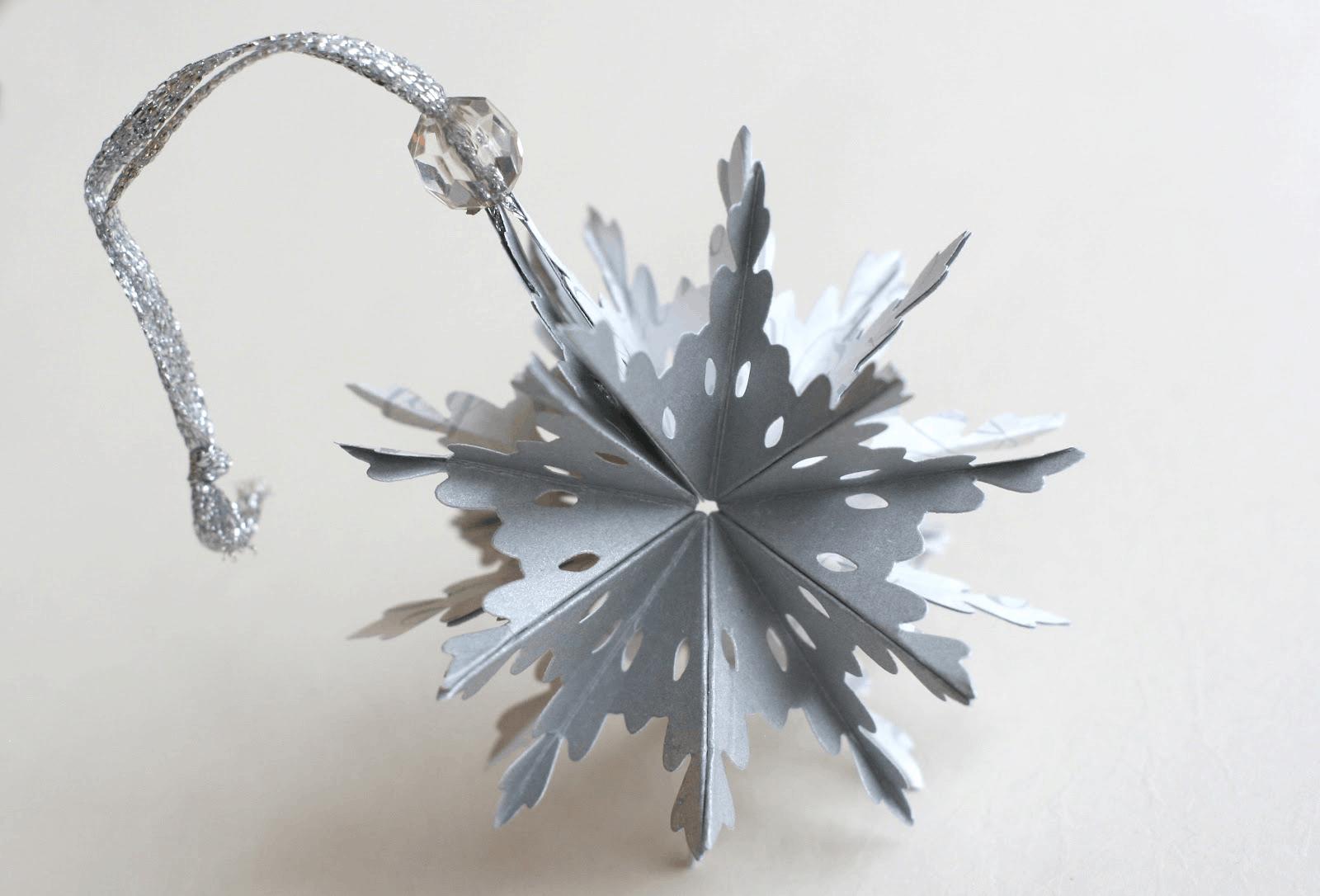 3d snowflake paper sphere ornament