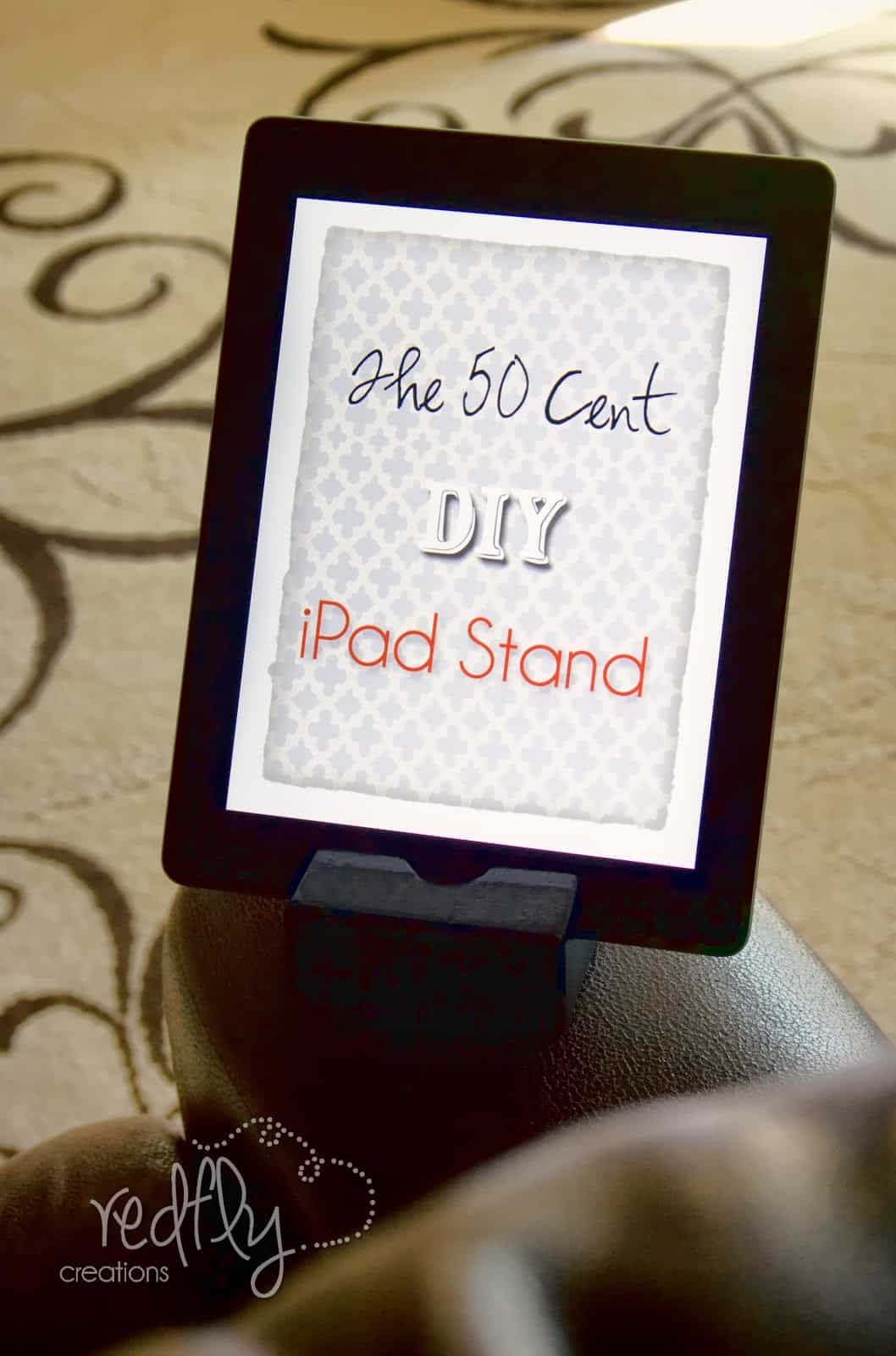 50 cent scrap wood tablet stand