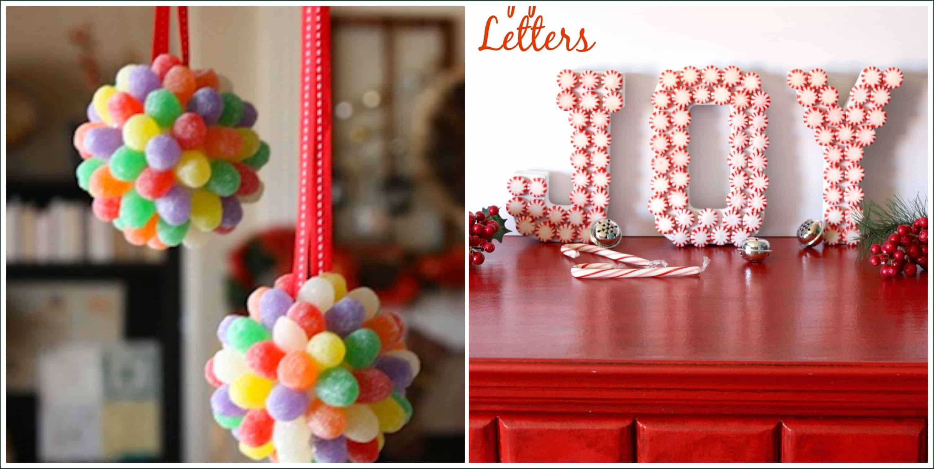 Bobbles and monograms made of candy