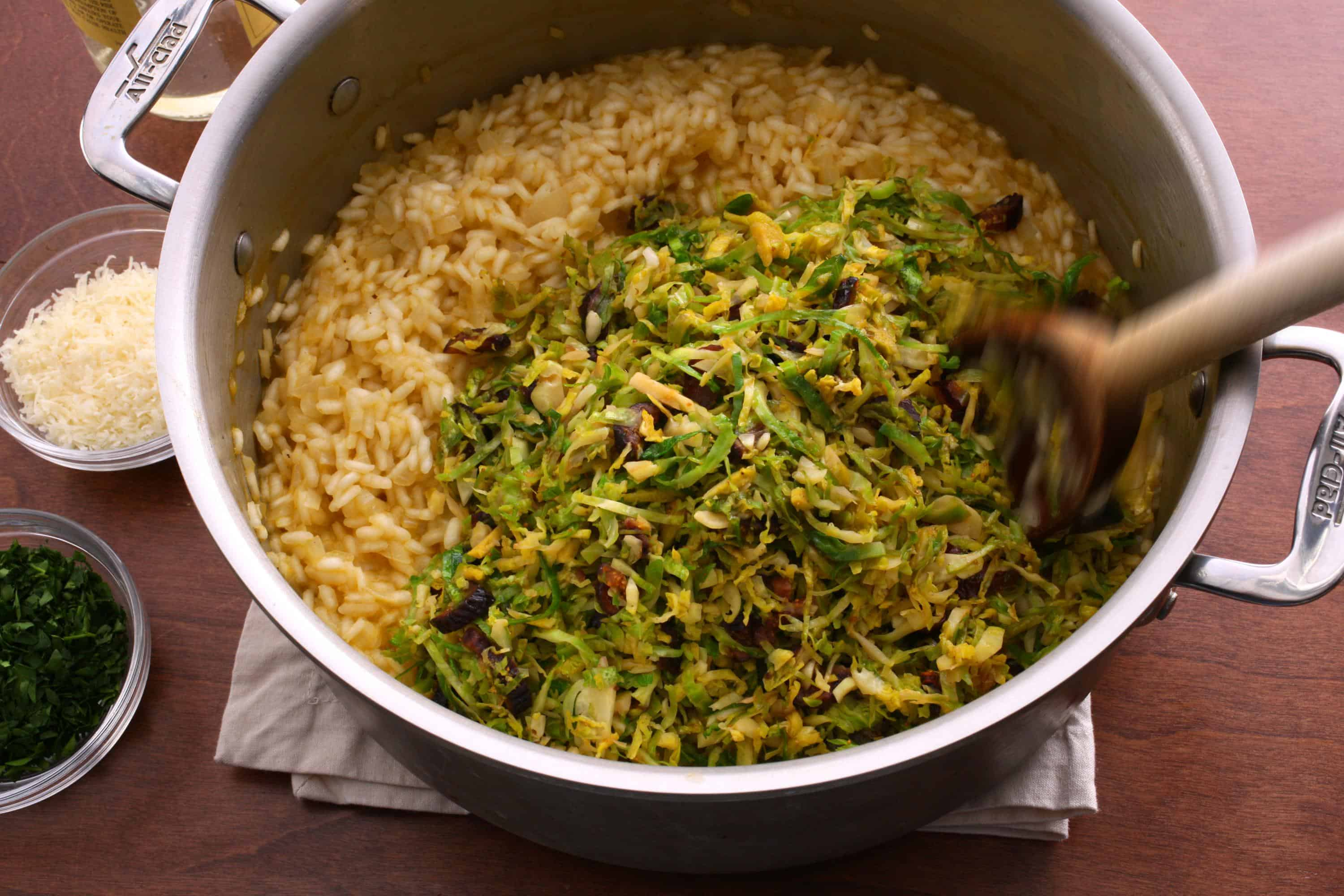 Brussel sprouts and lemon risotto