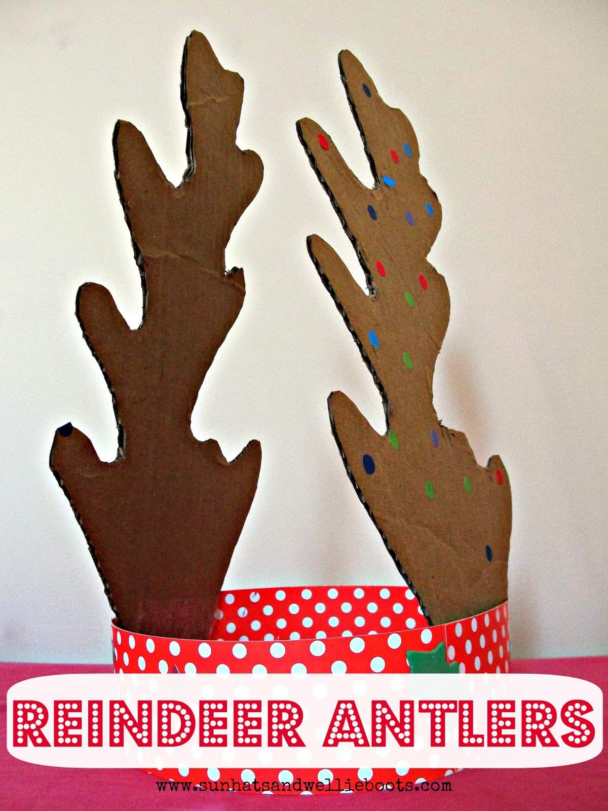 Cardboard reindeer dress up antlers