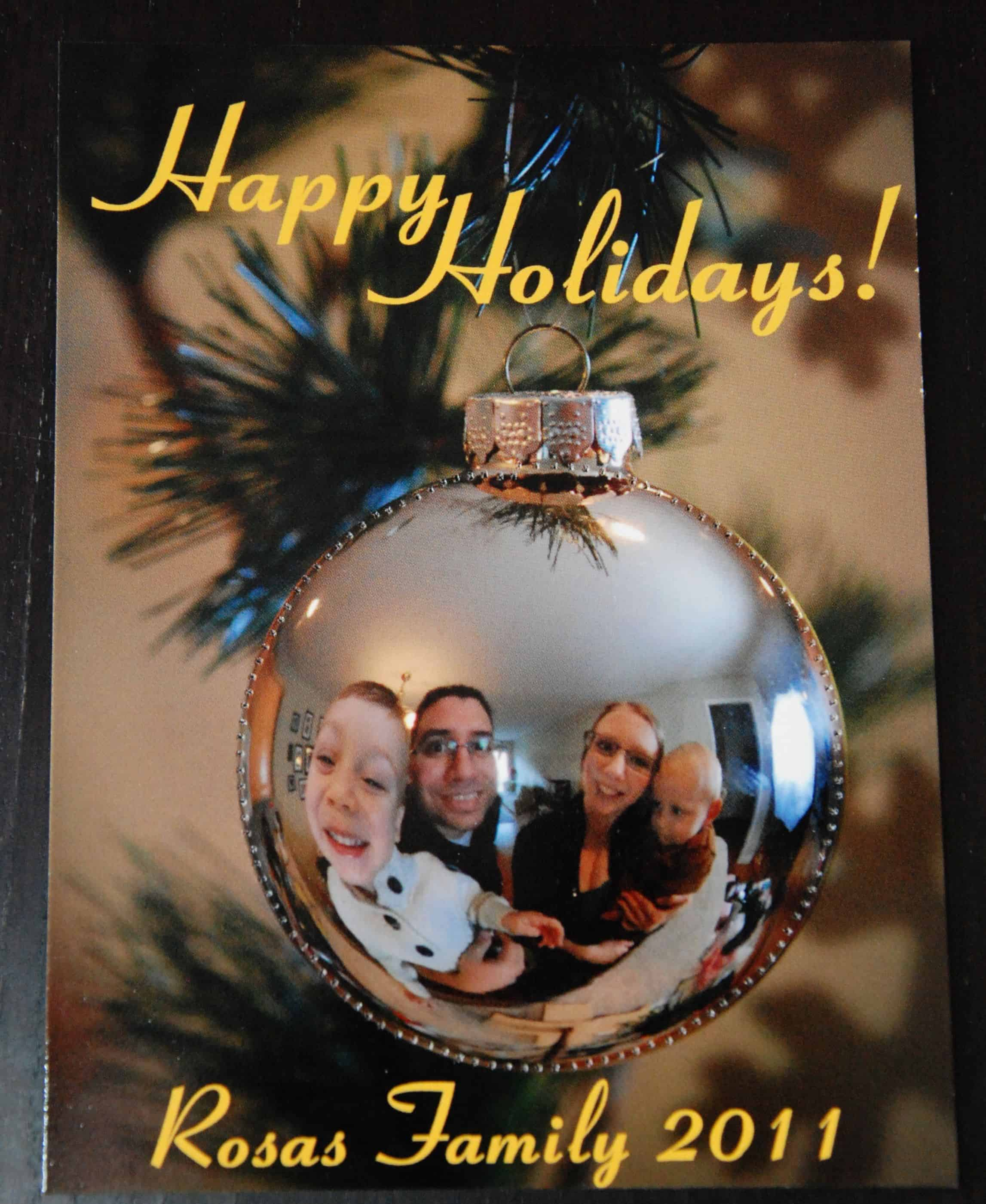 Christmas bobble reflection card