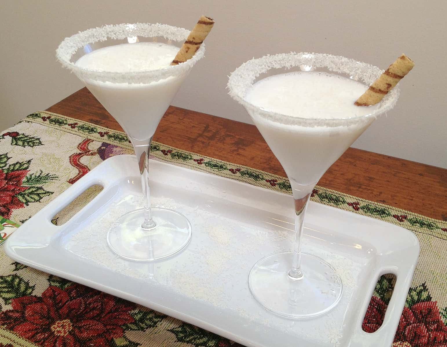 Coconut white chocolate martini