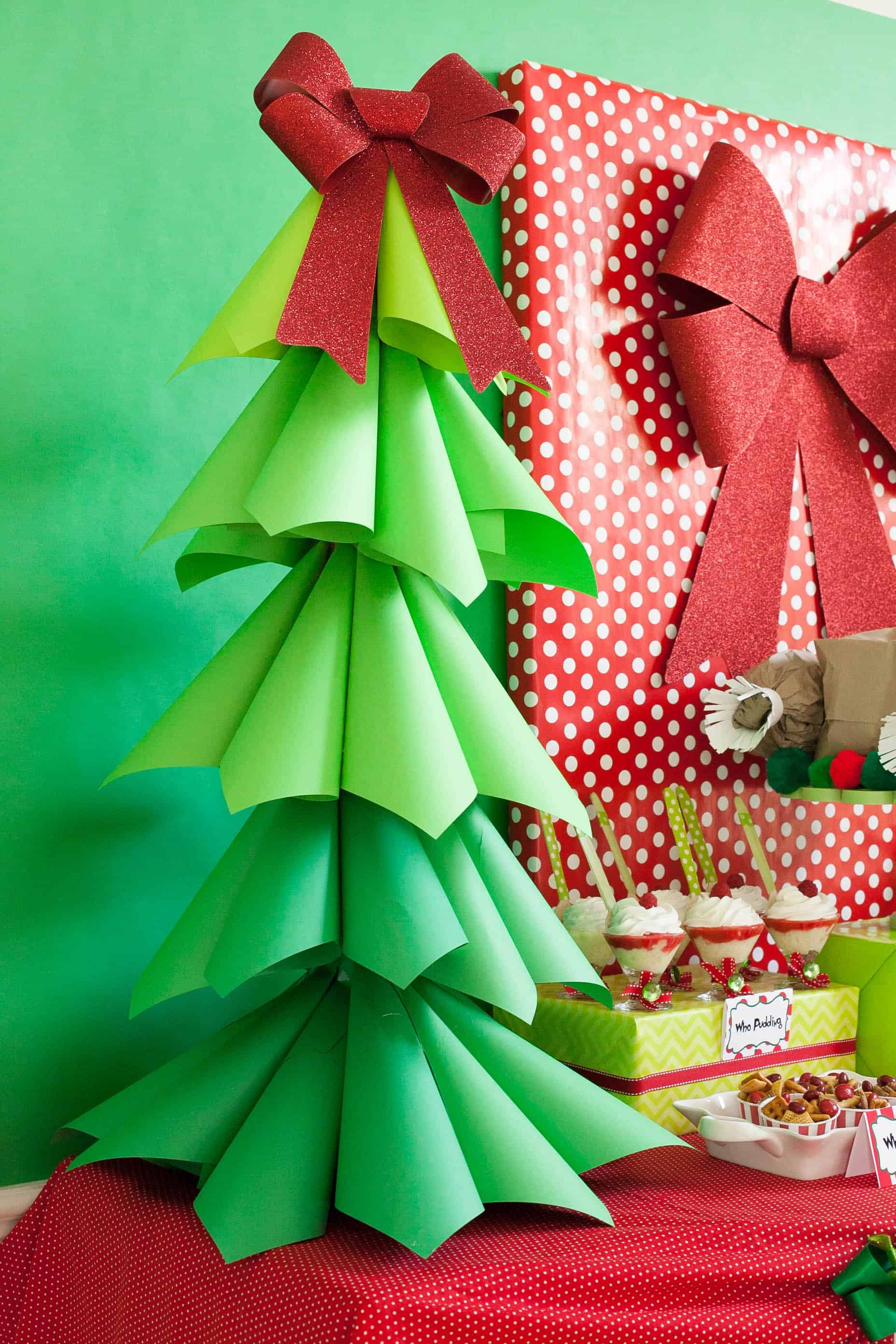 Good Big Christmas Party Ideas Part - 10: Curled Paper Christmas Tree