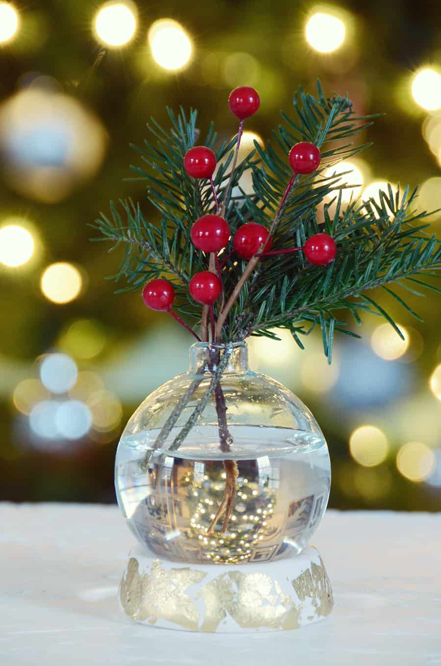 Diy Clear Christmas Table Centerpiece Vase