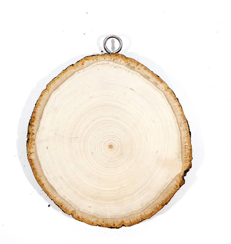 Diy wood slice ornament start