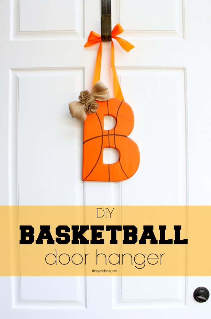 Diy basketball door hanger