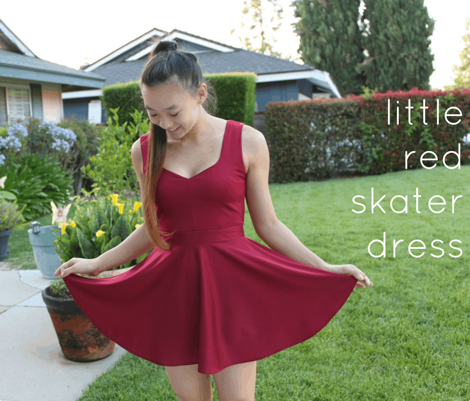Diy little red skater dress