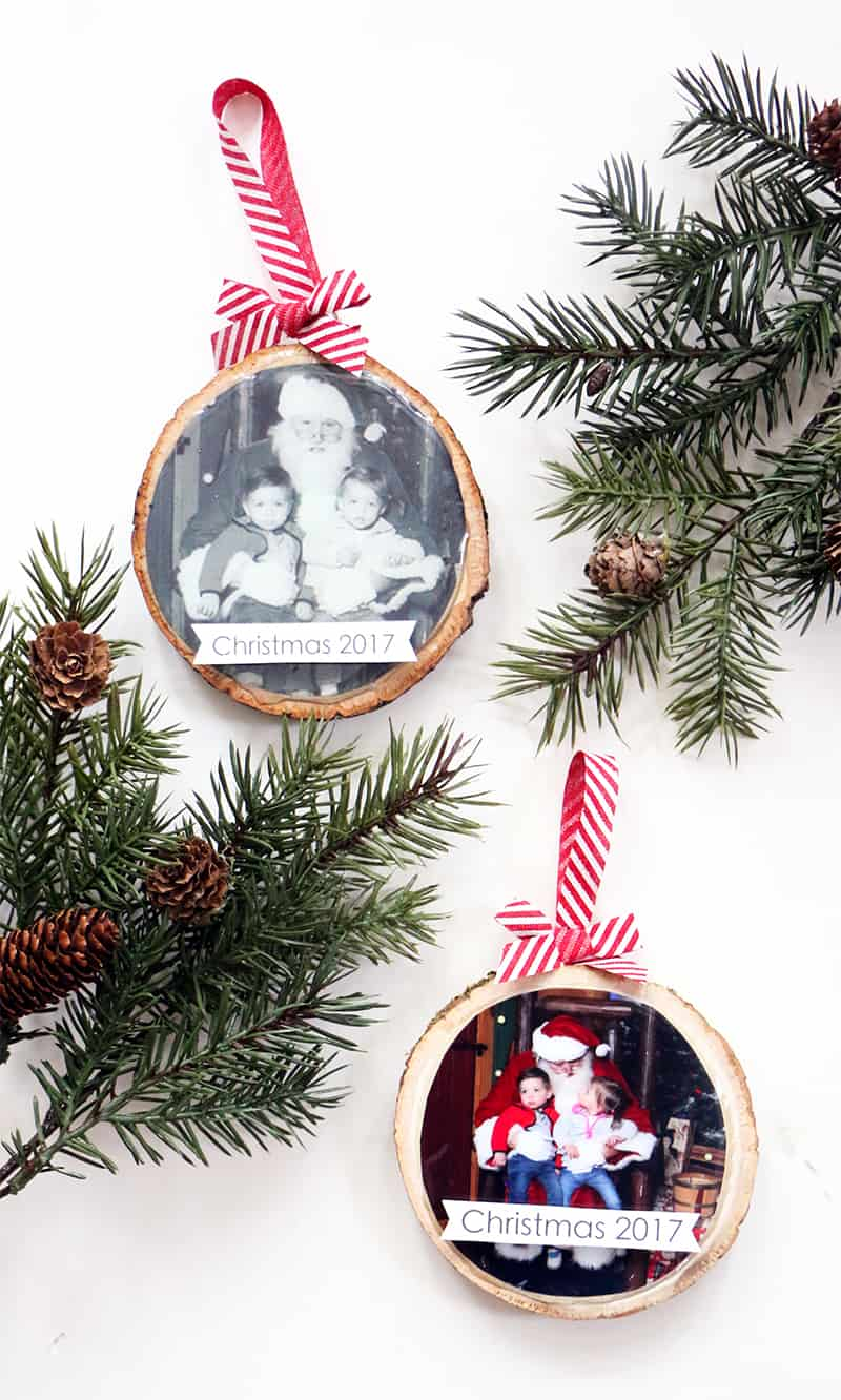 Decorating tree diy wood slice ornament