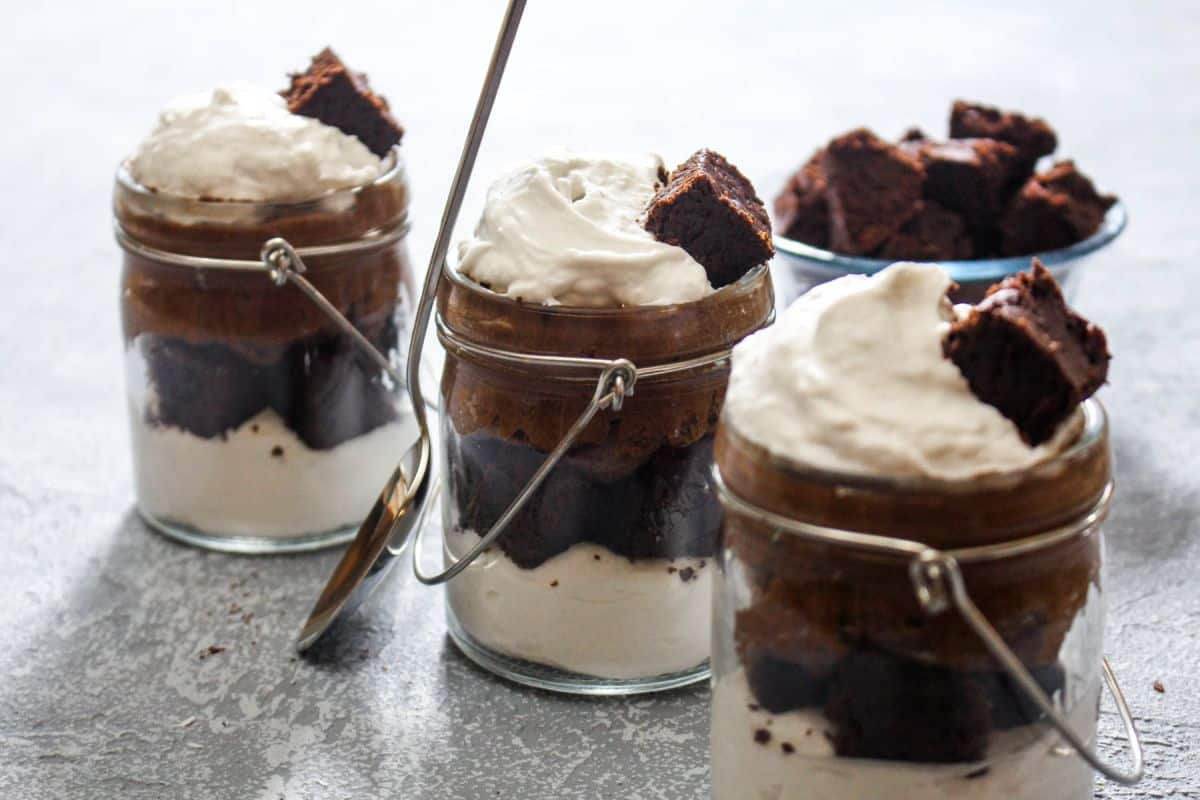 Delicious hot chocolate trifle