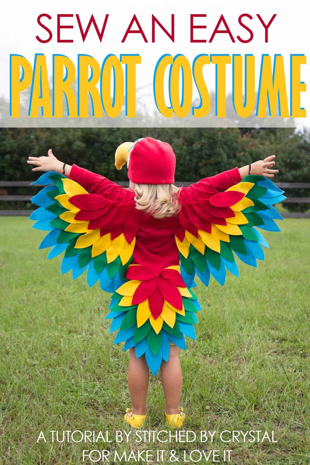 Easy sewn parrot costume