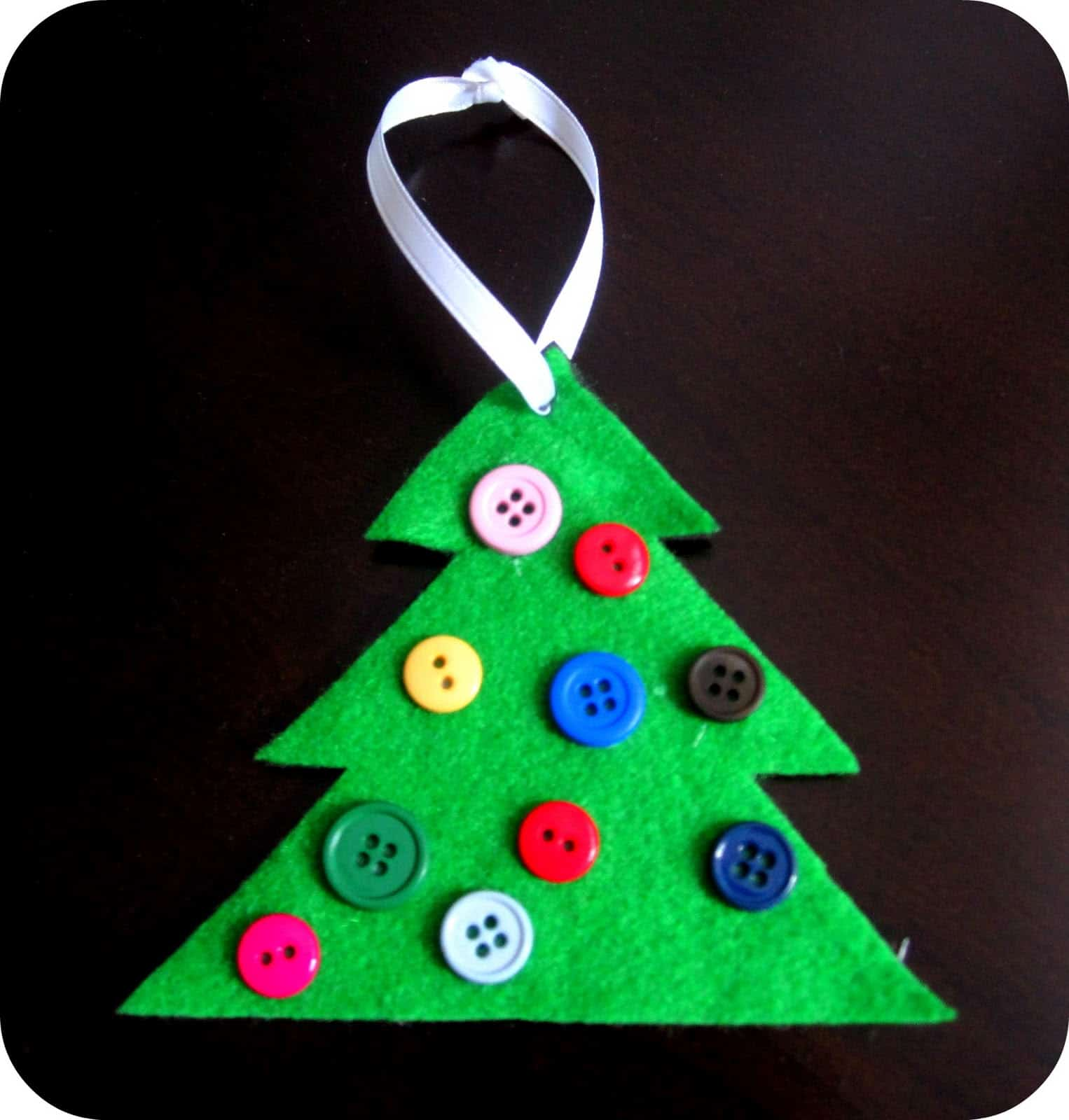 Felt and button christmas trees