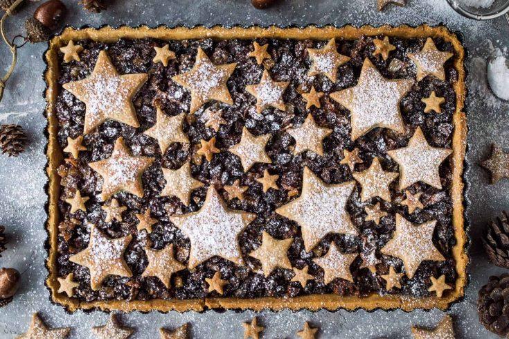 Festive starry mince pie tart