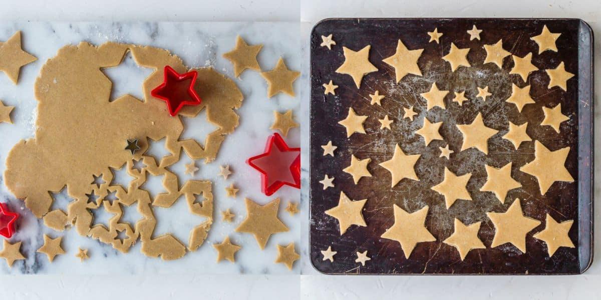 Festive starry mince pie tart stars