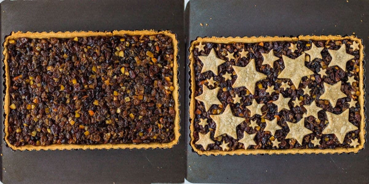 Festive starry mince pie tart step 6