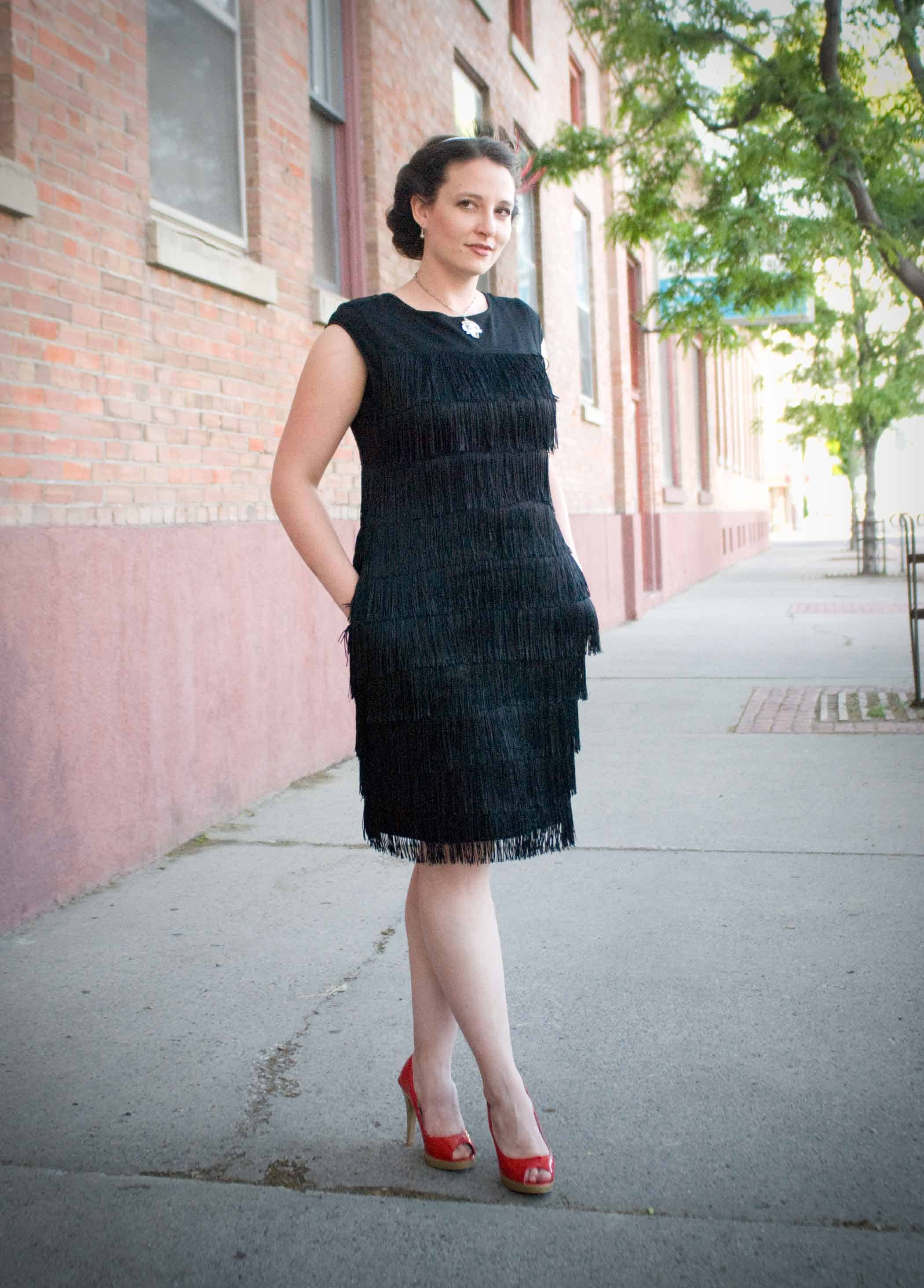 Flapper inspired diy fringe dress