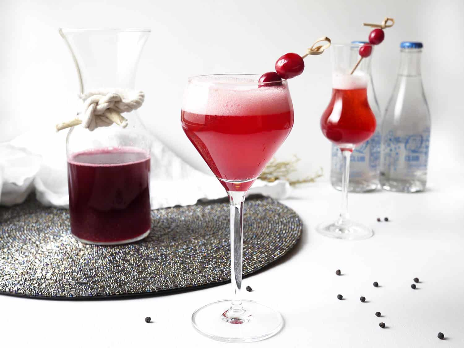 Flavourful cranberry cocktail