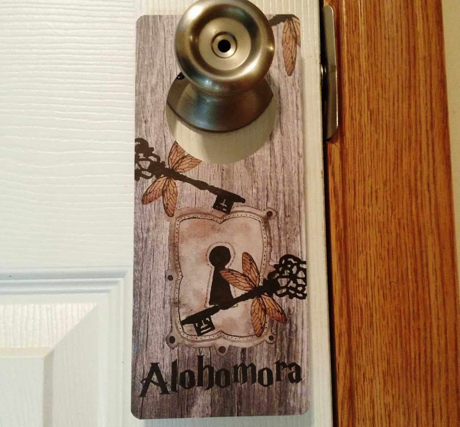 Harry potter inspired door knob hanger