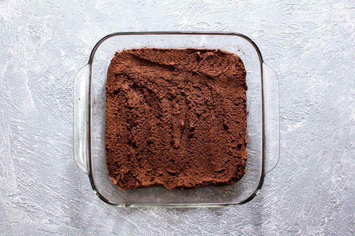Hot chocolate trifle backing pan