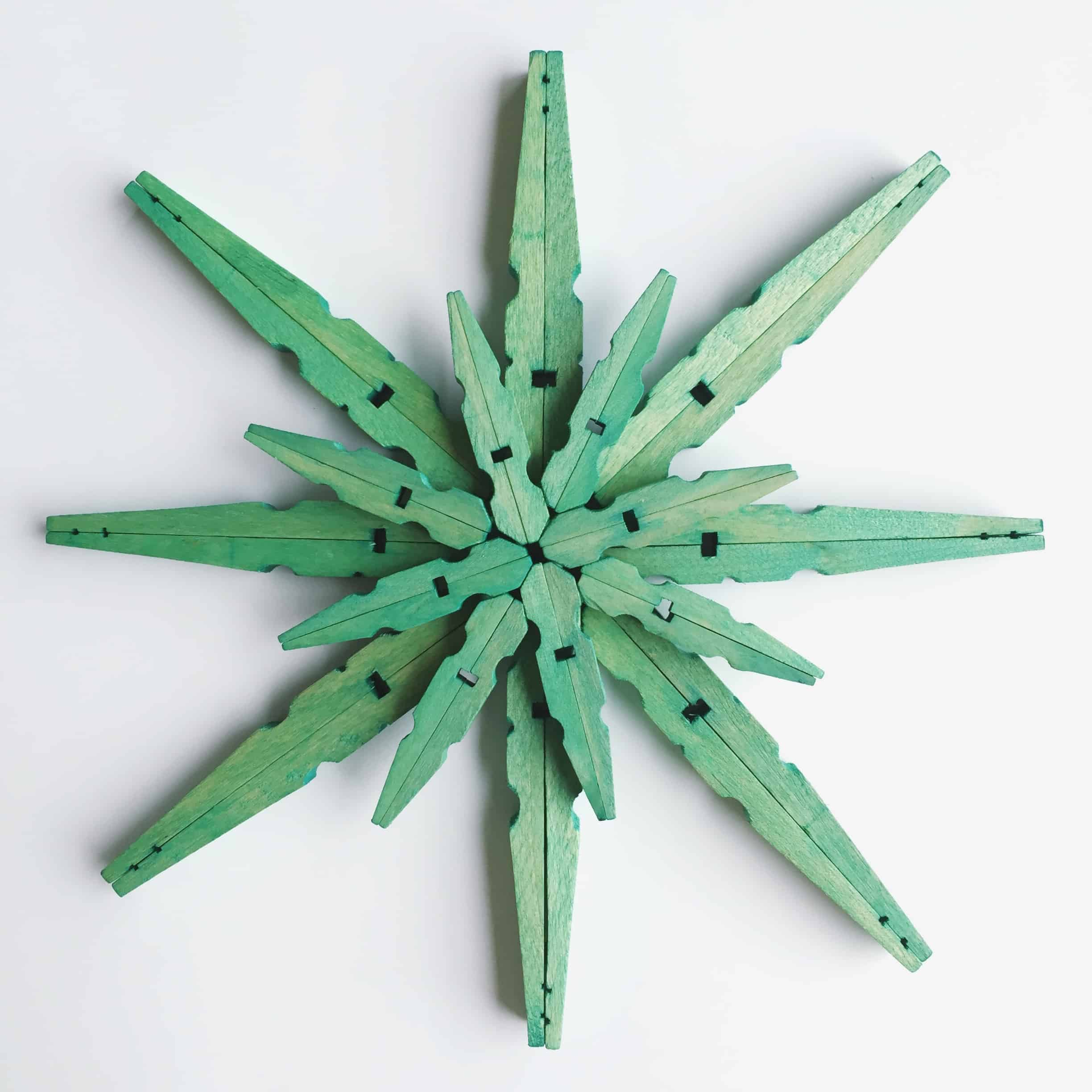 Painted clothespin snowflake