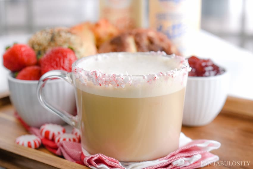 Peppermint vanilla latte