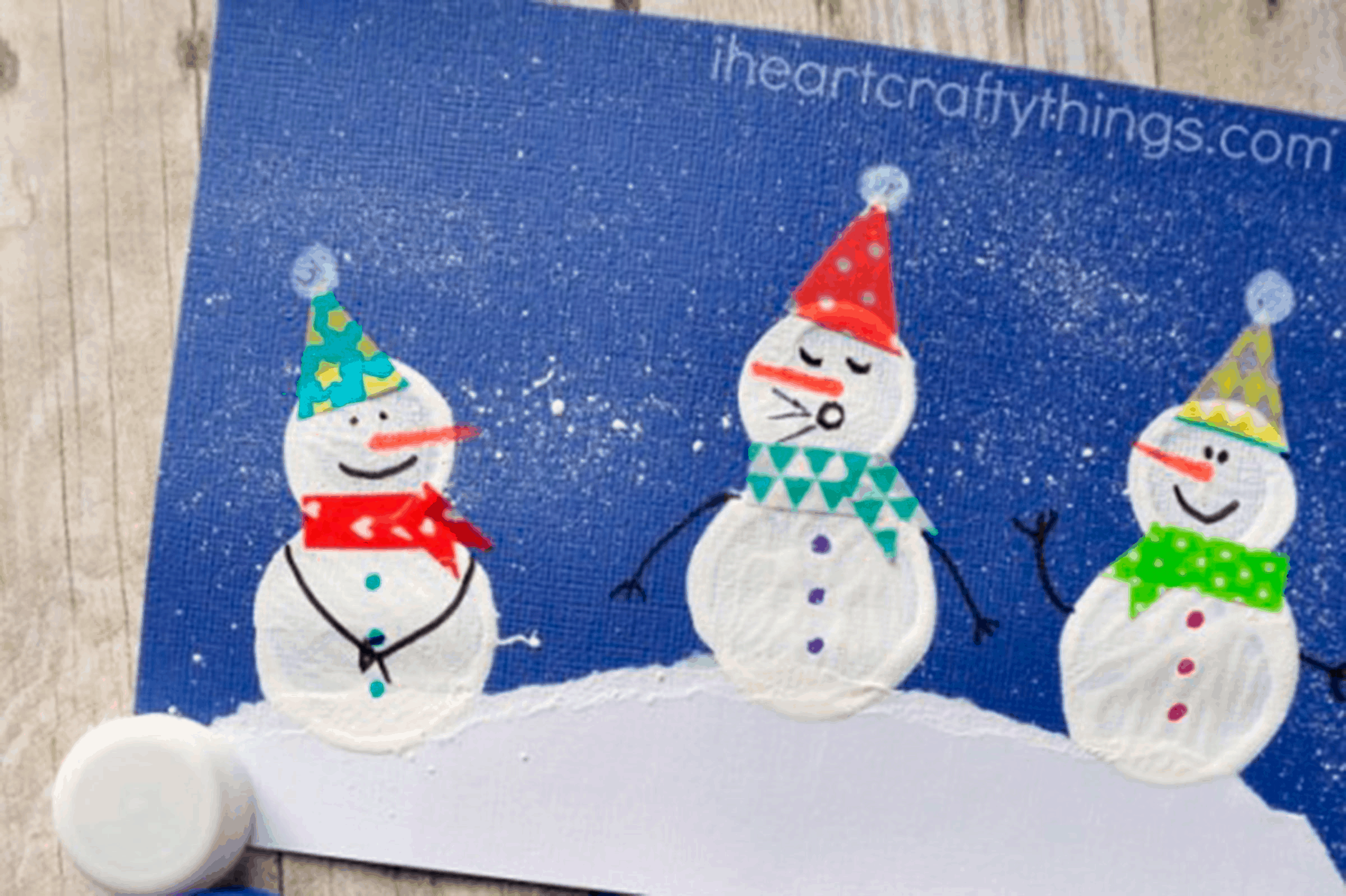 Plastic bottle printed snowmen