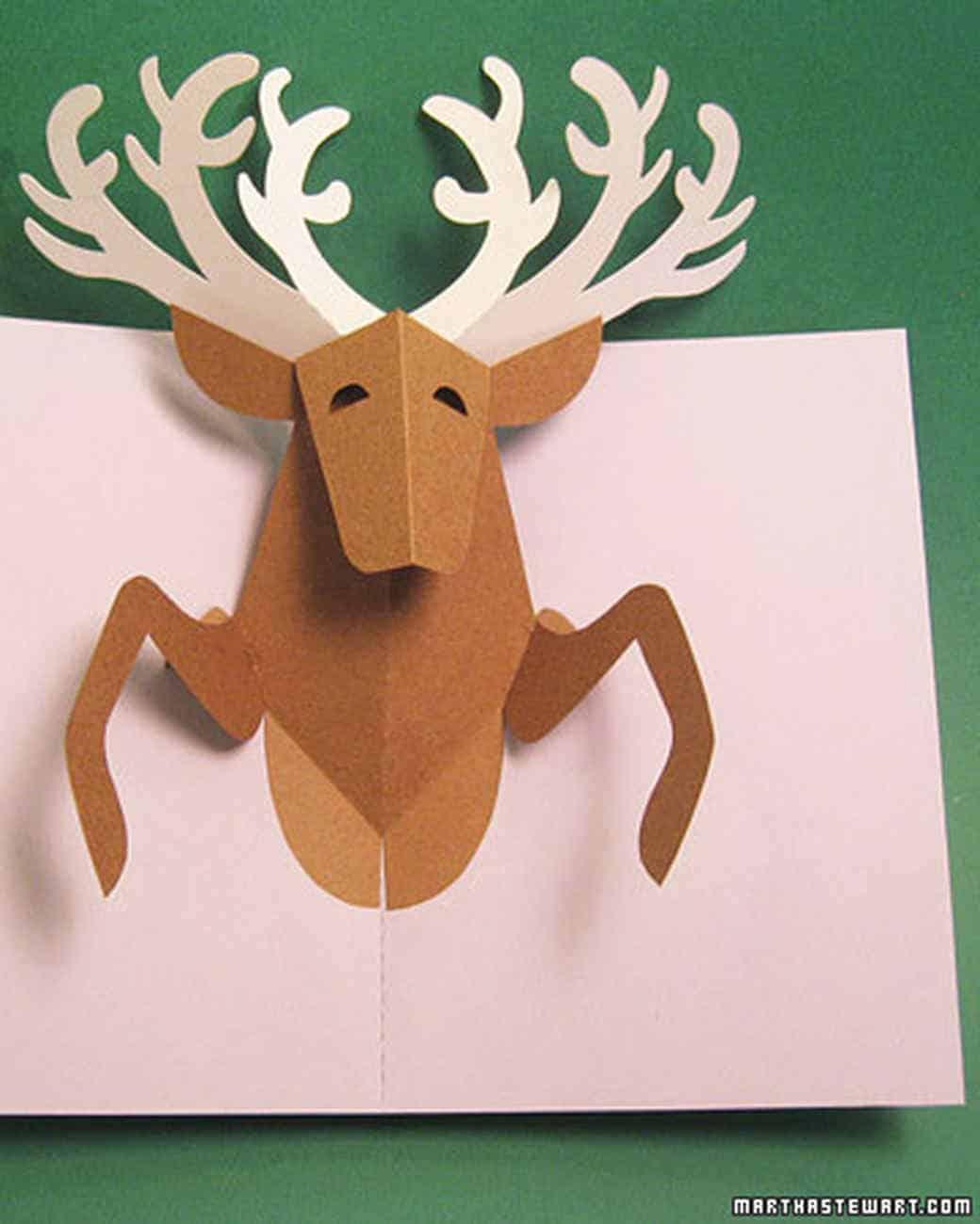 Pop up reindeer card