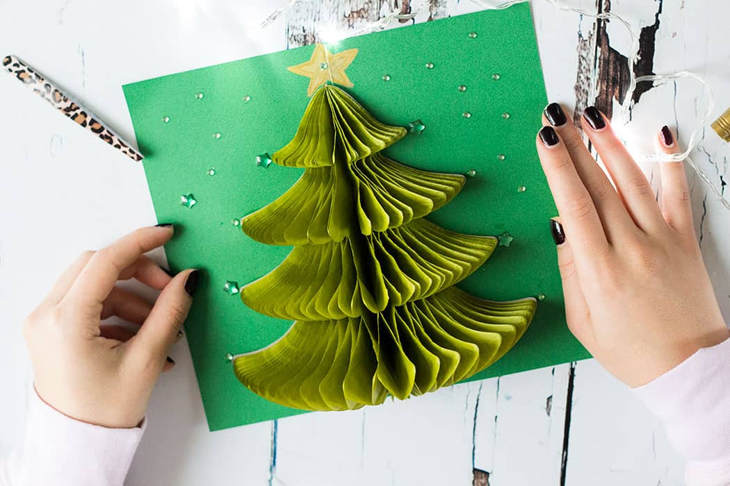 Pop up tissue paper tree