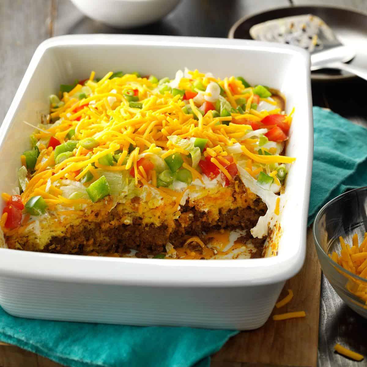 Potluck taco casserole