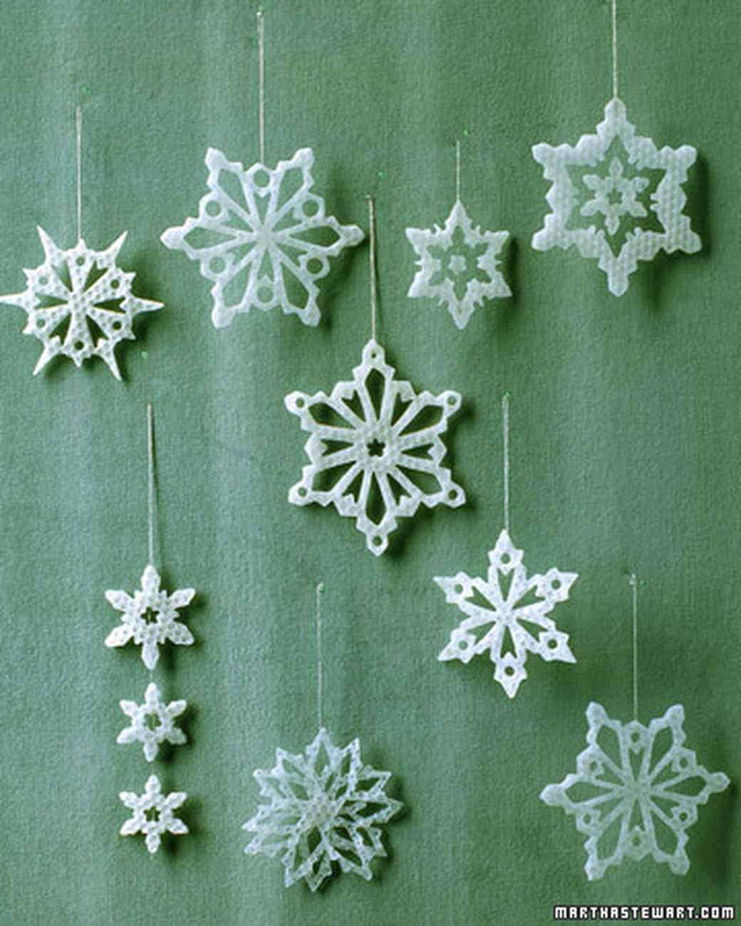 Pretty wax snowflakes