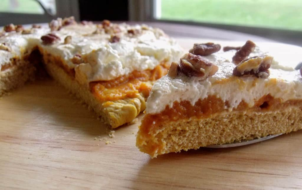 Pumpkin cream cheese pizza