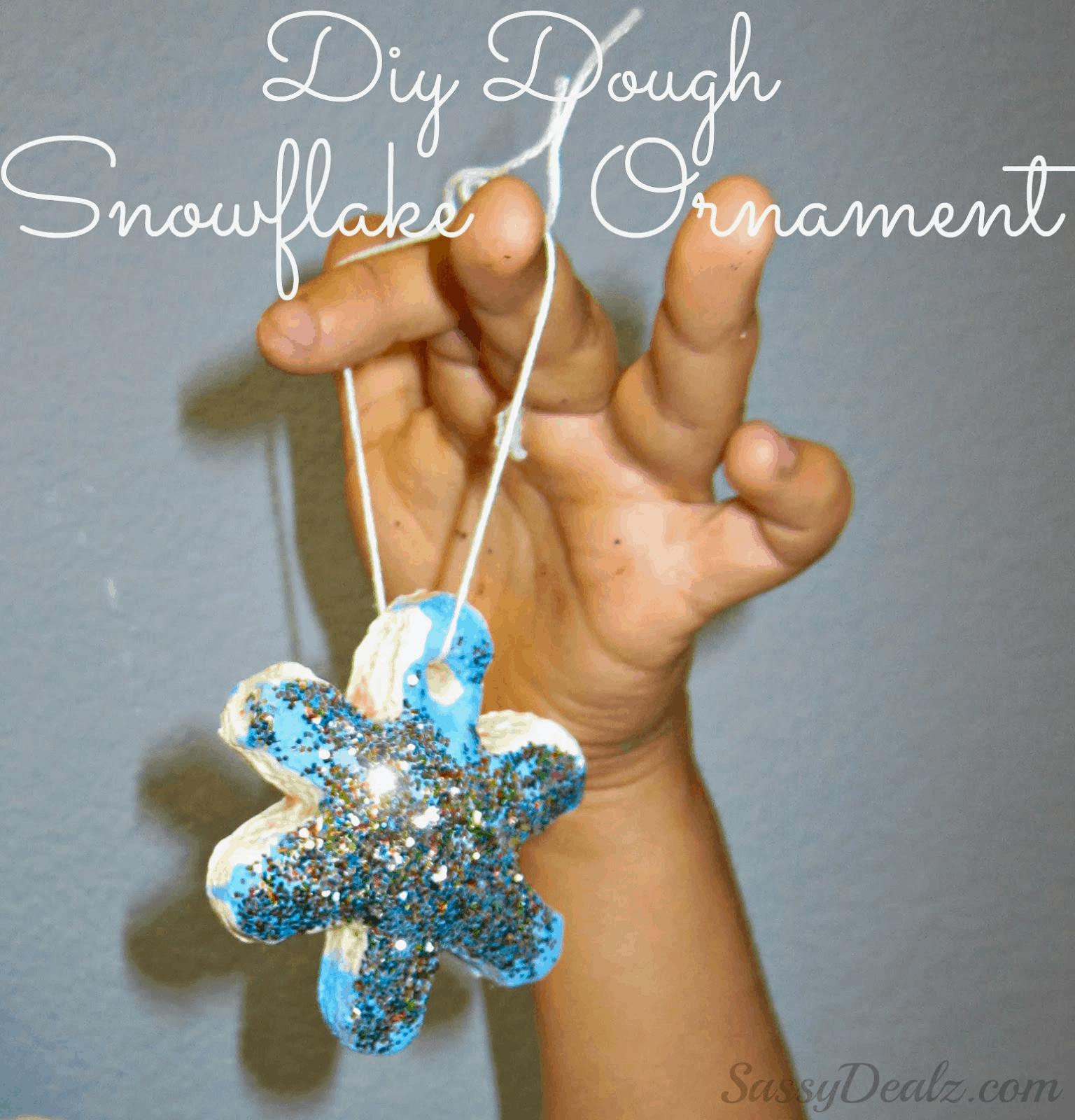 Sparkling diy dough snowflake