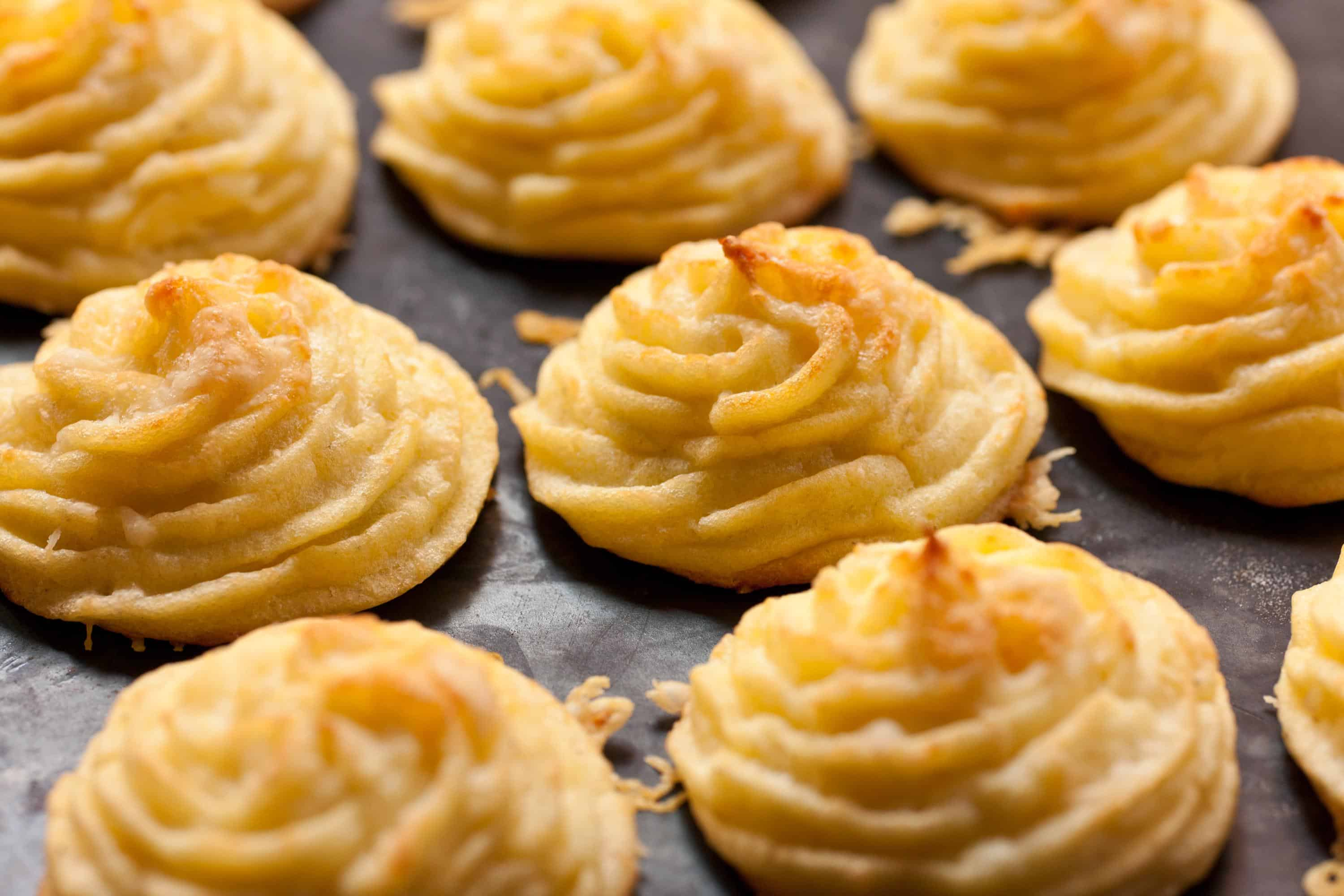 Swirling duchess potatoes