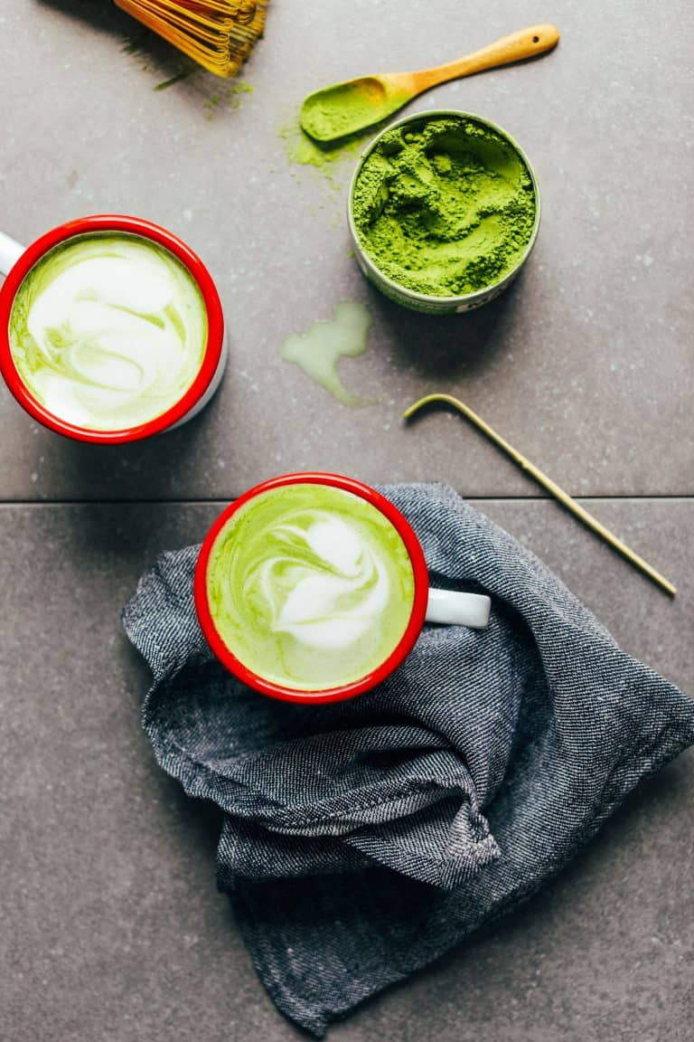 The best matcha latte creamy coconut and macadamia